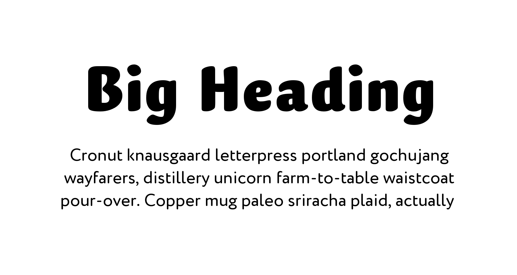 Font pair for headings – Muffin Black + Circe Rounded