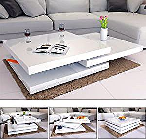 Deuba Couchtisch Hochglanz Weiss Wohnzimmertisch Beistelltisch Sofa Tisch Modern In 2020 Coffee Table Design Modern Centre Table Living Room Center Table Living Room
