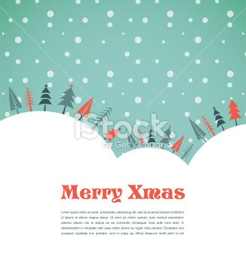 Christmas background with homes and birds Royalty Free Stock Vector Art Illustration