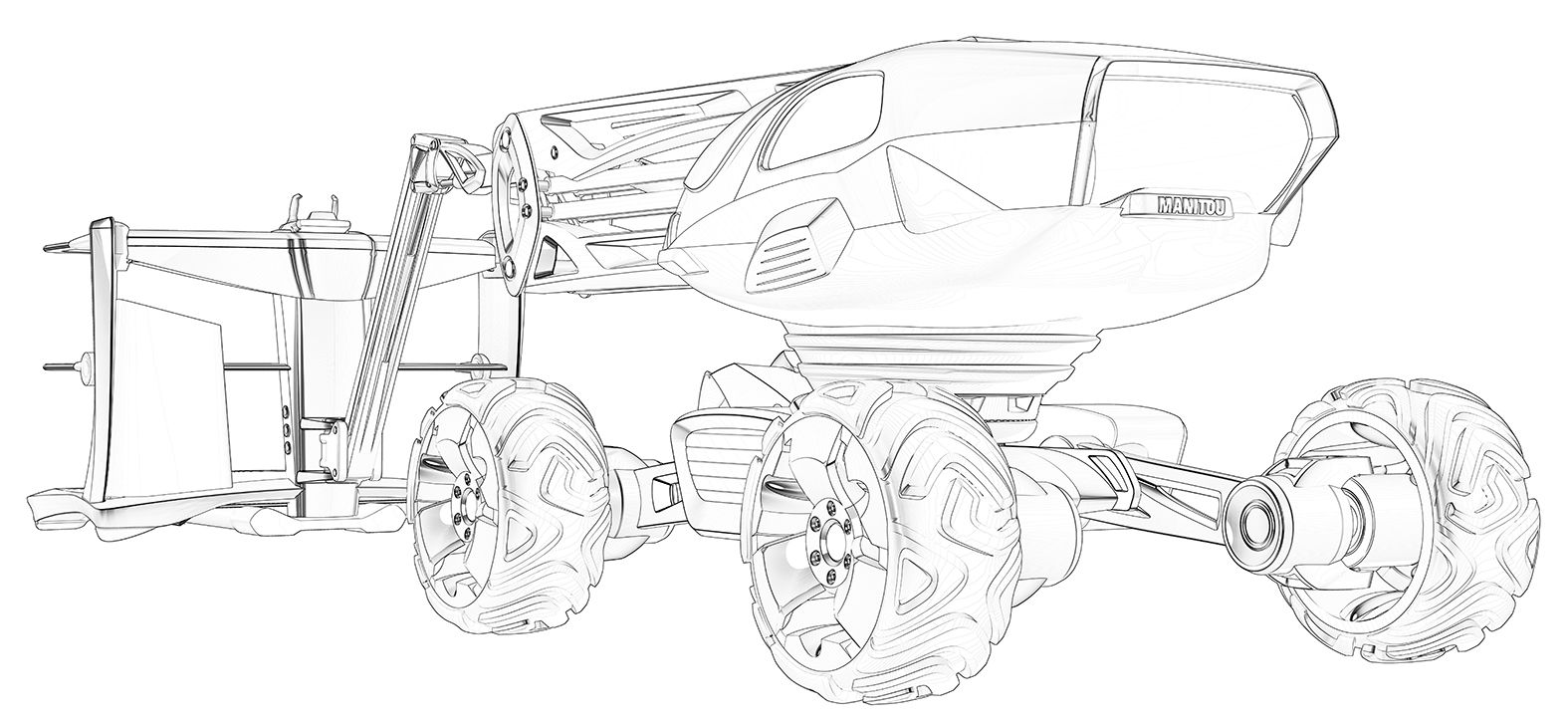 Traktor Fendt Ausmalbilder : Concept Truck Nacelle Rendus Design Manitou Pinterest