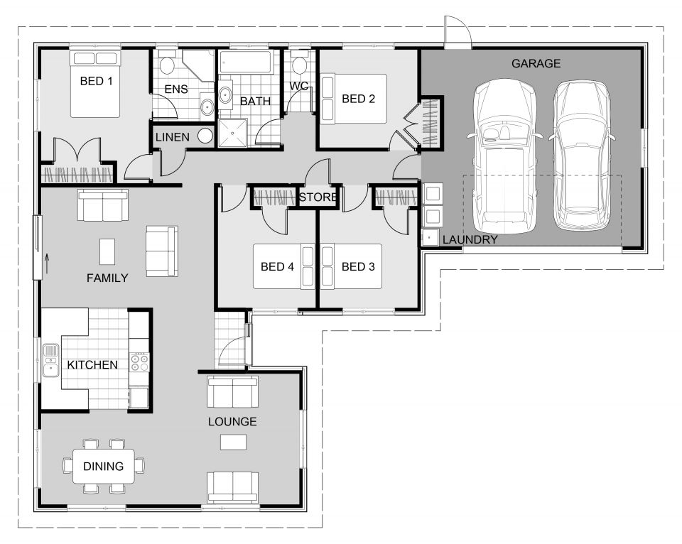 Hihi Signature Homes With Images Architectural Floor Plans Dream House Plans 4 Bedroom House Plans