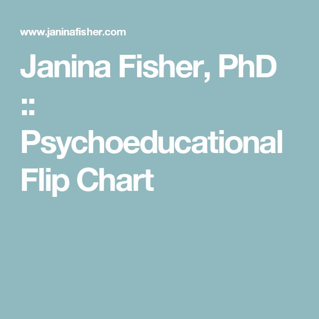 Janina fisher phd psychoeducational flip chart also psych therapy rh pinterest