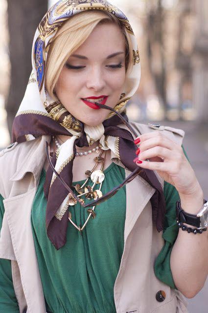 Head scarf tied under chin   headscarves   Pinterest ...