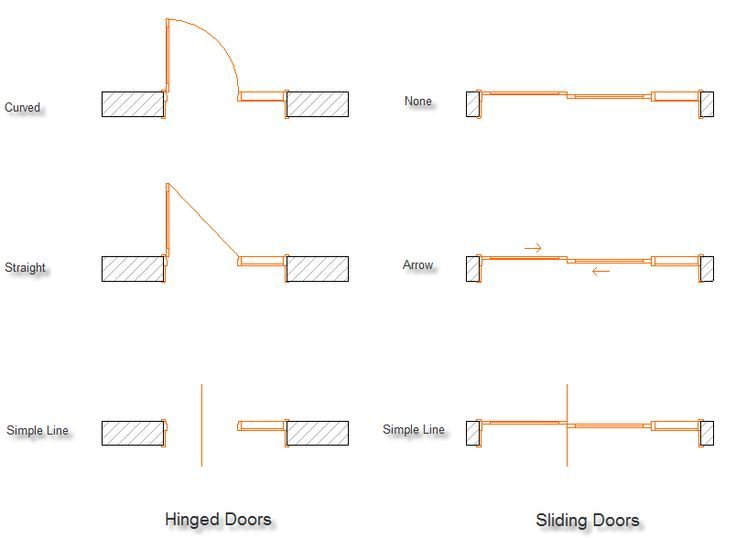 How To Draw A Sliding Gl Door In Plan Home Decor