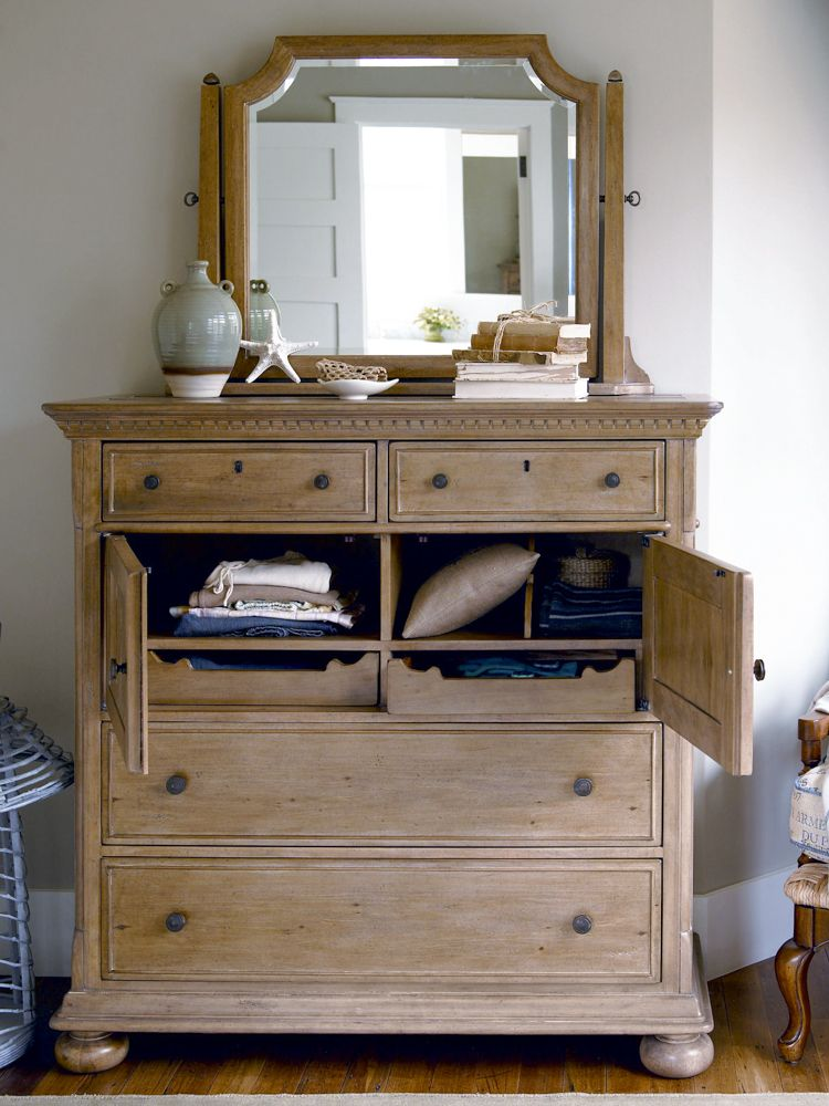 Universal Furniture Paula Deen Down Home Dressing Chest With Mirror In Oatmeal Available At Furnitureland South