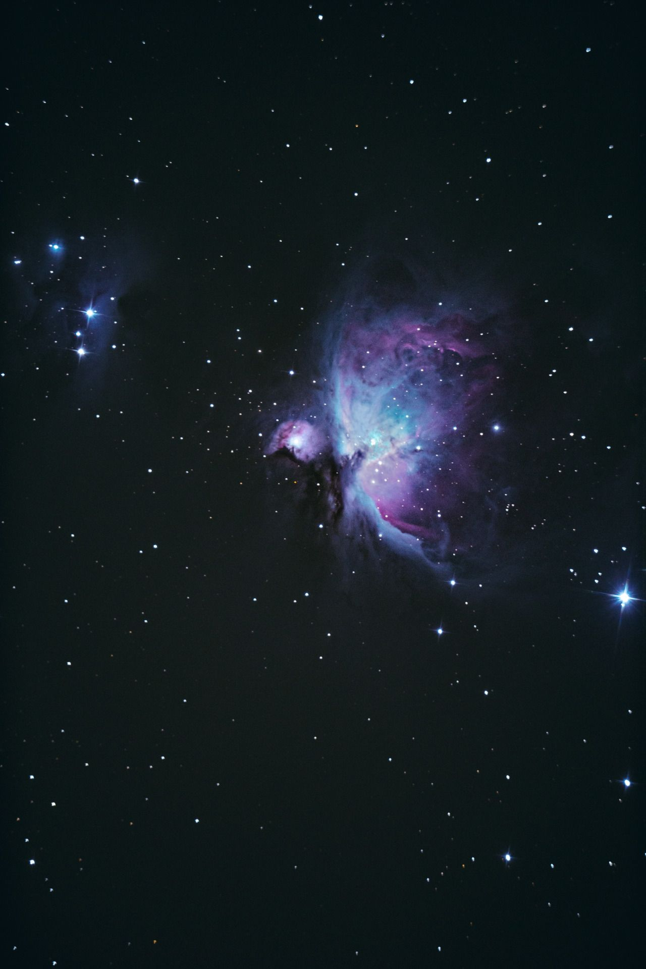 Orion nebula with his neighbour.