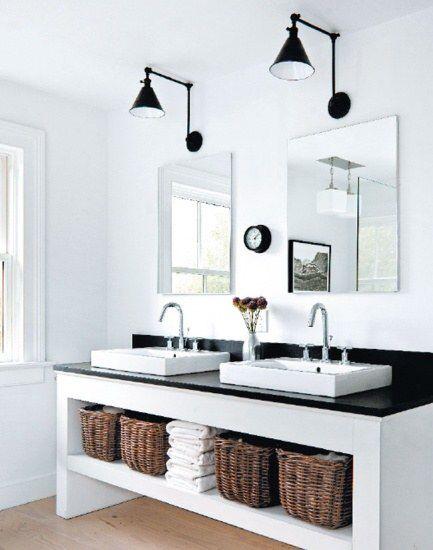 Applique salle de bain noir Chambre Pinterest Black counters