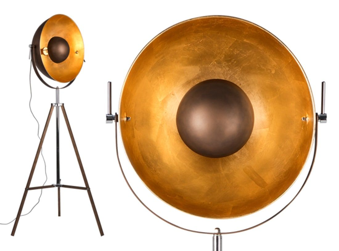 Chicago Tripod Floor Lamp Antique Copper And Gold With Images