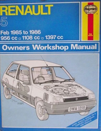 renault 5 1985 1986 workshop manual 1850102198 listing in the rh pinterest co uk Haynes Manuals UK renault 5 haynes manual pdf download