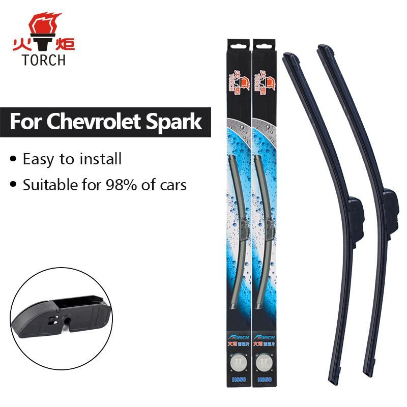 TORCH Wiper Blades For Chevrolet Spark M300 Fit Hook Arms