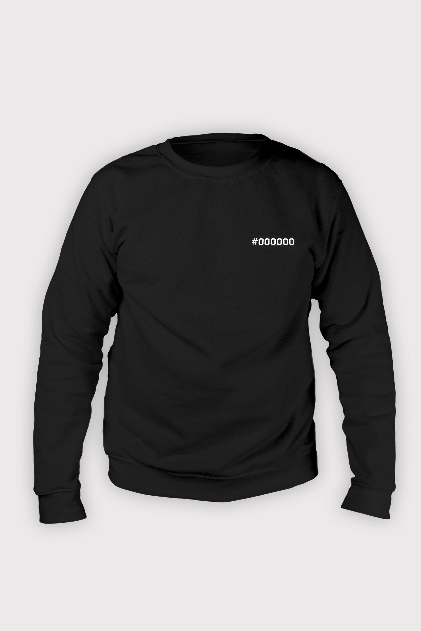 000000 Black Crewneck Sweatshirt Crew Neck Sweatshirt Sweatshirts Crew Neck [ 2400 x 1602 Pixel ]