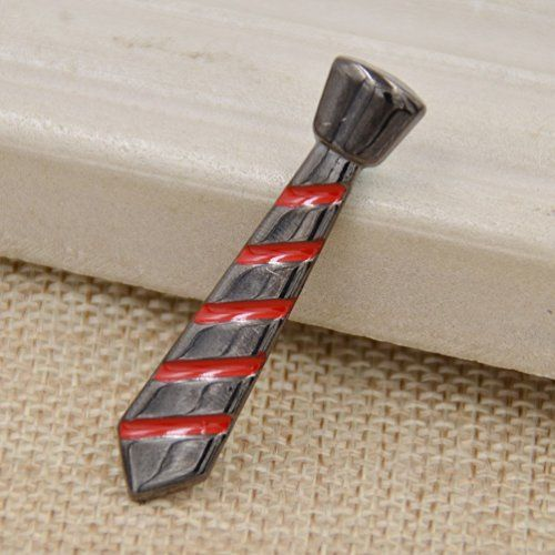 236093d01501 Amazon.com: Mens Novelty Necktie Shape Tie Clip Strip Alloy Tie Bar Clasp  Clip…