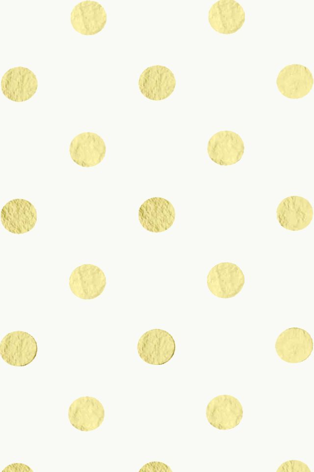 kate spade iphone wallpaper  Free gold and white polka dot pattern | Patterns