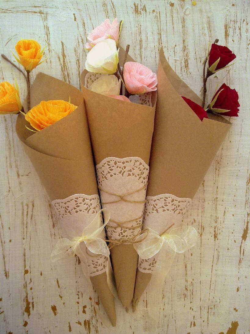 Букет от хартиени цветя EcoFlowers   Ръчна изработка