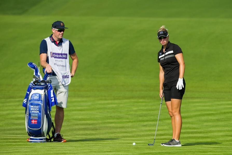 Nicole Broch Larsen of Denmark during the first round. Omega Dubai Ladies Masters Emirates Golf Club Dubai UAE. 7-10 December. Credit: Tristan Jones