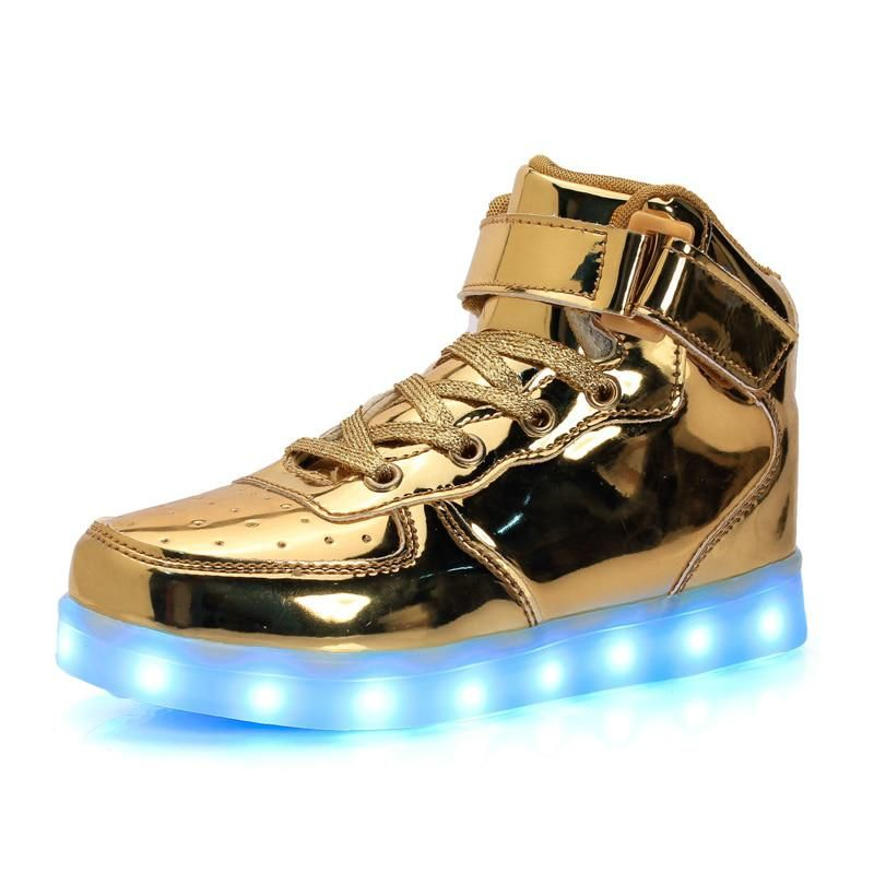 1aa5a0f693d5 USB Charging Basket Led Children Shoes Luminous Sneakers with Light Up Gold  silver red Kids Boys Girls Glowing Shoes Boots. Yesterday s price  US   34.50 ...
