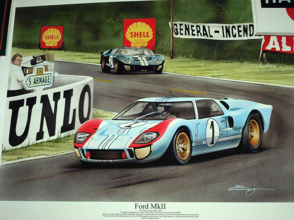 Ford V Ferrari Gt40 Le Mans 1966 Ken Miles Carroll Shelby Lola