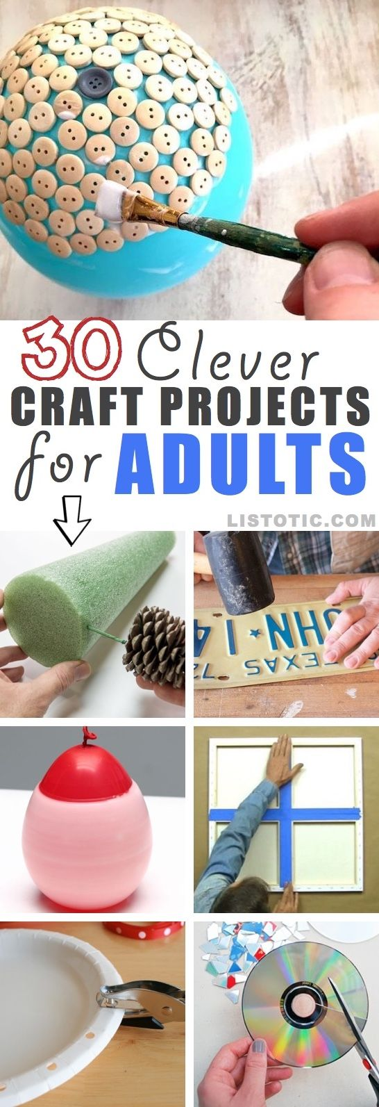 Easy DIY craft ideas for adults and teens-- for the home, for fun, for…