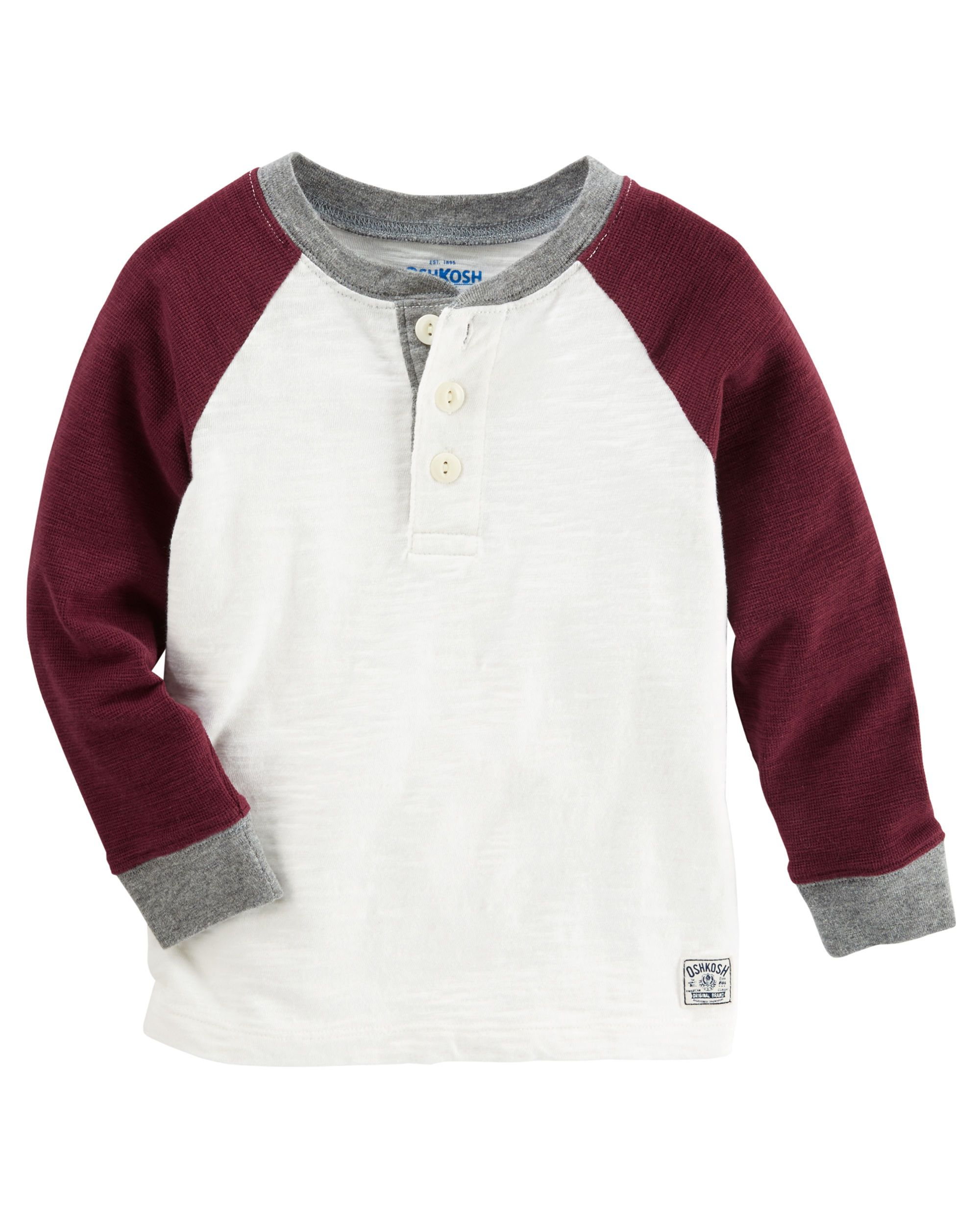 8c01b6ebc Toddler Boy Raglan Henley | OshKosh.com | Styles 4 my boys | Toddler ...