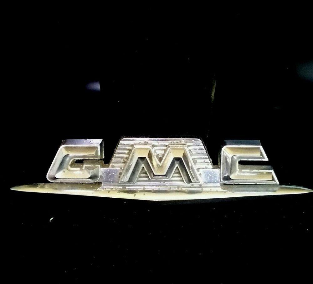 1960 Oem Gmc Truck Hood Emblem Trim Molding Pickup Chrome Ornament Grill Gmc Gmc Truck Gmc Emblems