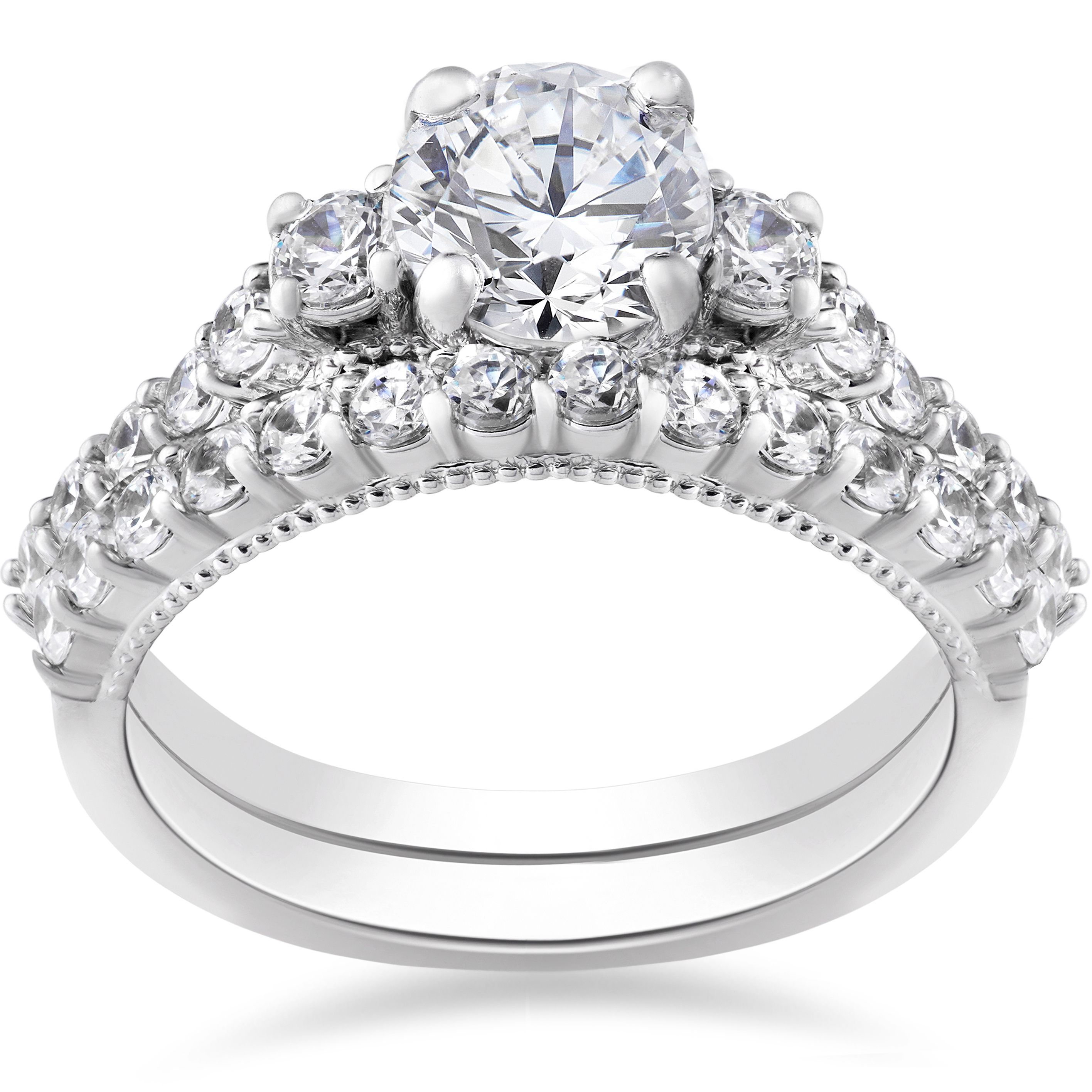 bliss 14k white gold 2 ct tdw diamond clarity enhanced vintage