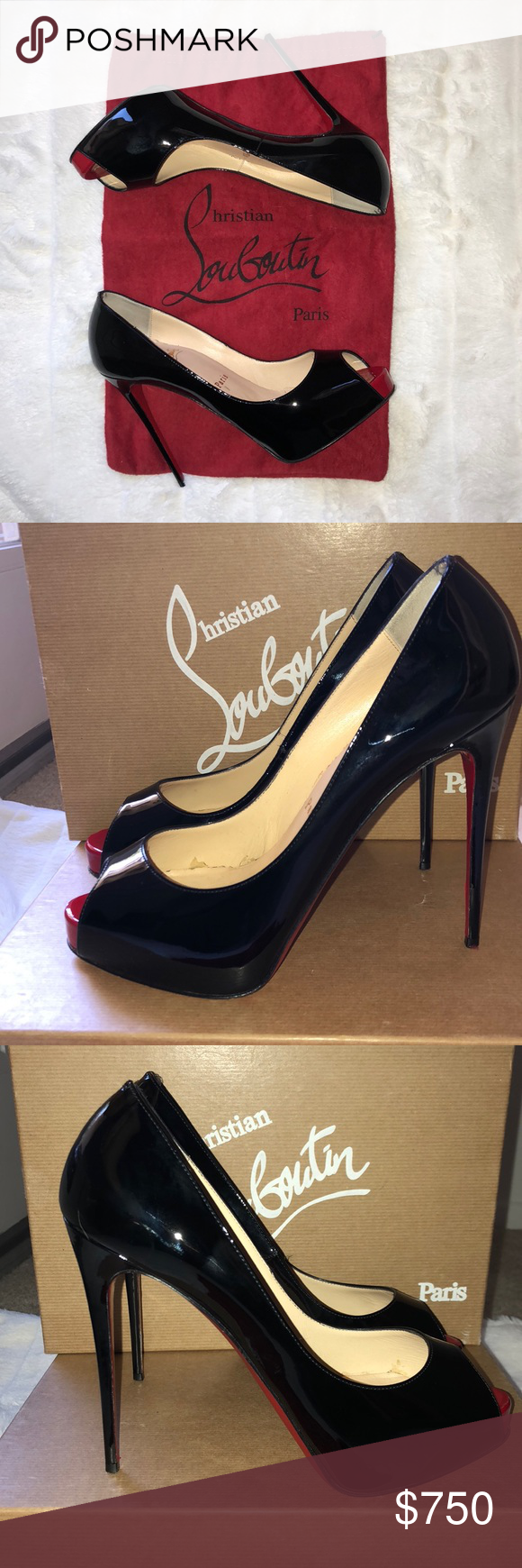 da99bd7db11 Authentic Louboutin New Very Prive 💯 % AUTHENTIC Christian ...