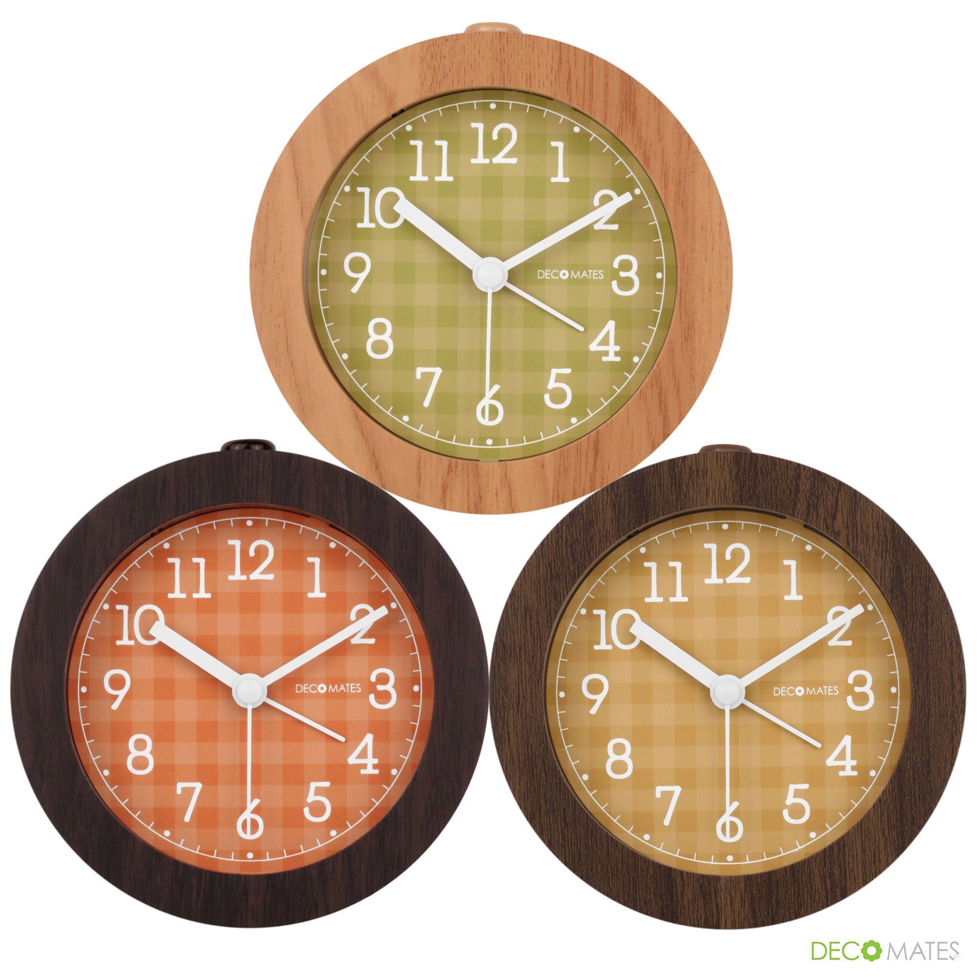 Decomates Non Ticking Silent Small Wall Desk Alarm Clock