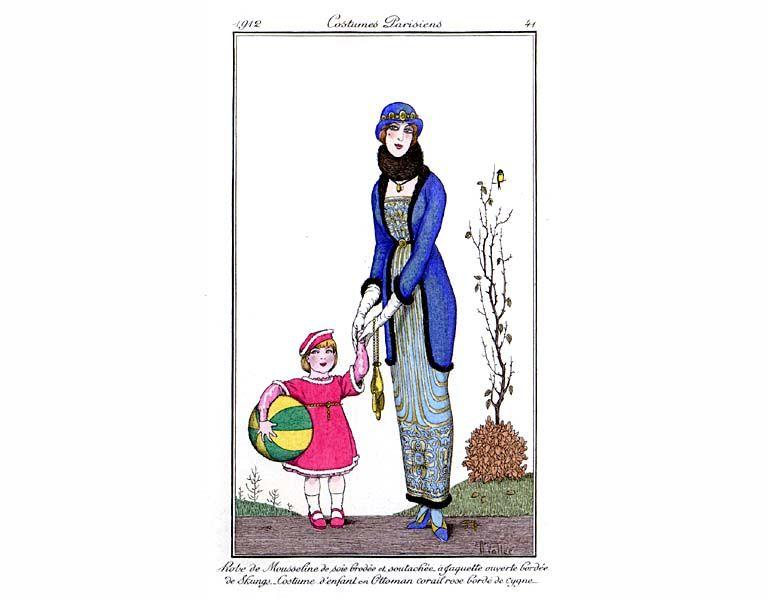 1912 robe de mousseline et jaquette