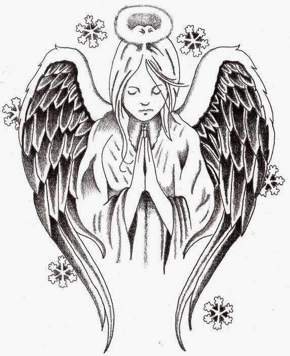 Tattoos Book: 2510 FREE Printable Tattoo Stencils: Angels
