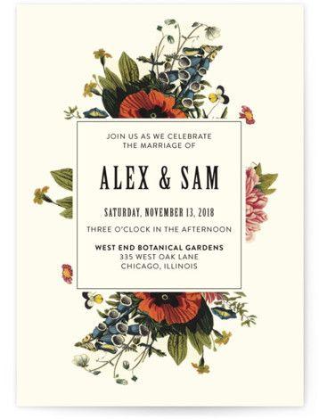 """Vintage Garden Invite"" - Customizable Wedding Invitations in Beige by Alisa Wismer."