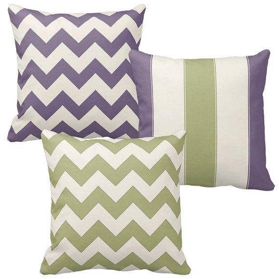 Green and Purple Throw Pillow Covers Sage Green Dusty   Etsy