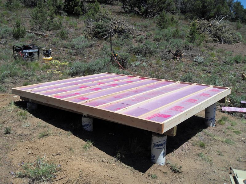 how to build a shed floor frame