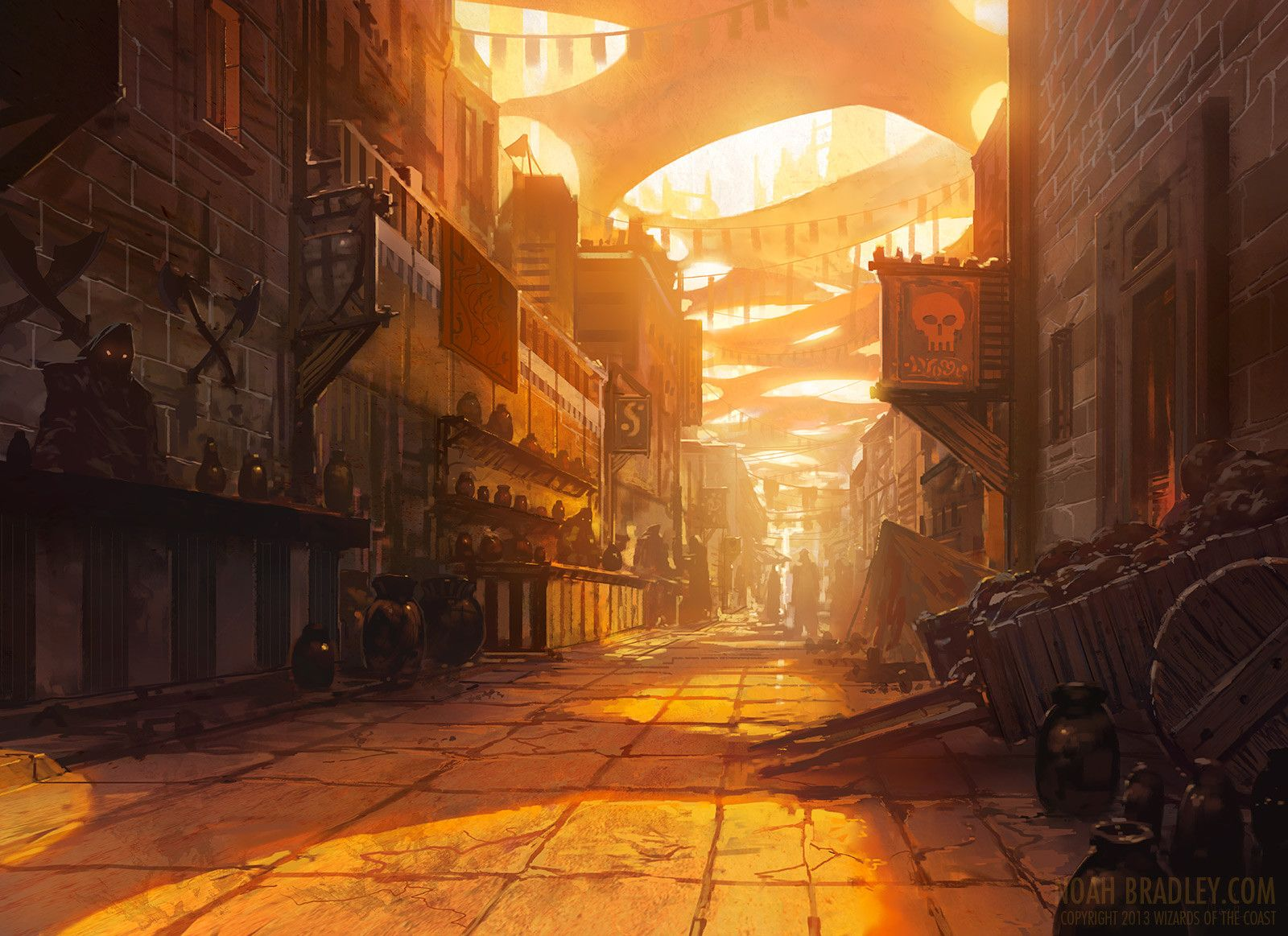 Tin Street Market by Noah Bradley - Imgur