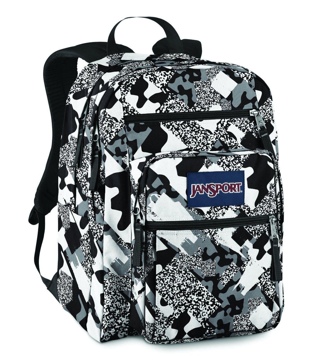 Jansport Big Student Backpack Black / White Camo | Jansport ...
