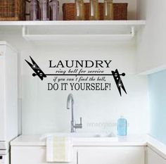Laundry Room Wall Stickers Walldecallaundryroomstickersplendid Laundry Room Decor Including