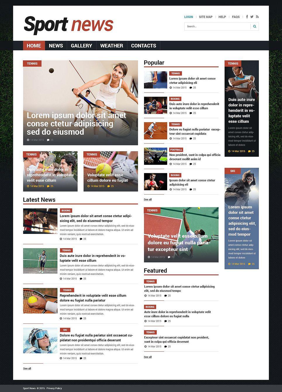 Sports News Responsive Joomla Template
