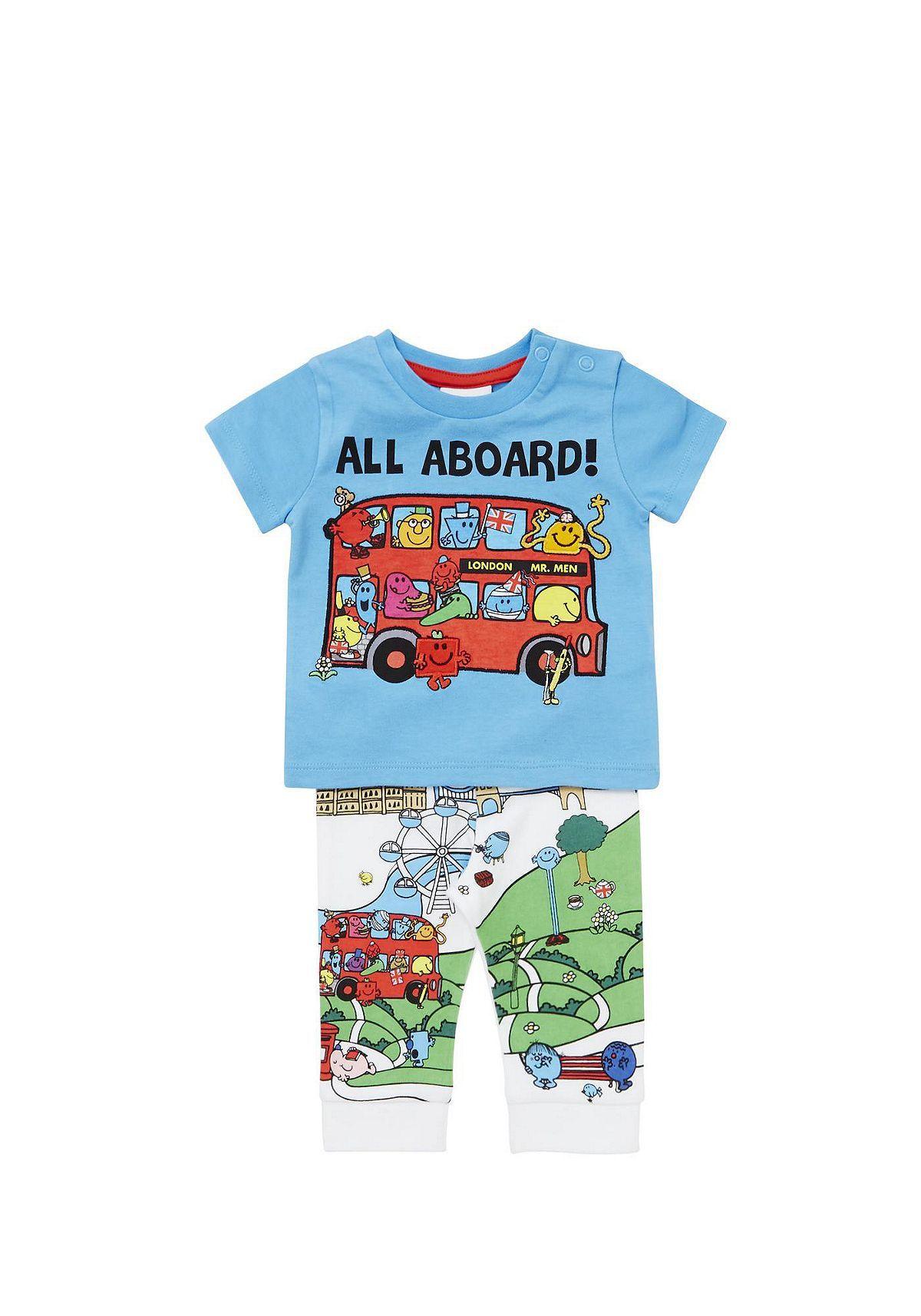 Tesco direct  Mr. Men London Bus Pyjamas  d0e301f9c