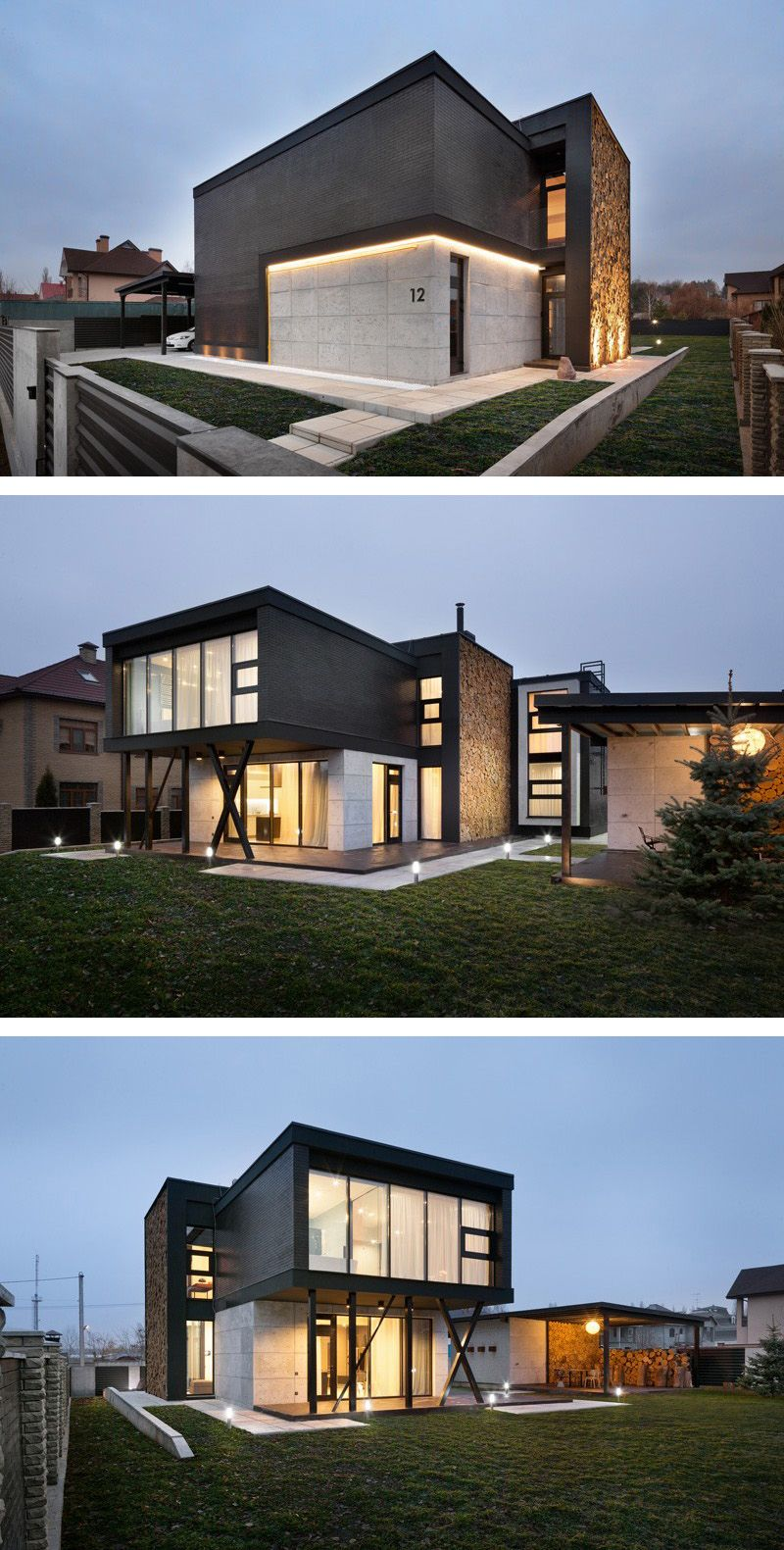 """Modern Home Located In Montonate Italy: Sergey Makhno Has Completed """"Buddy's House,"""" A Home"""
