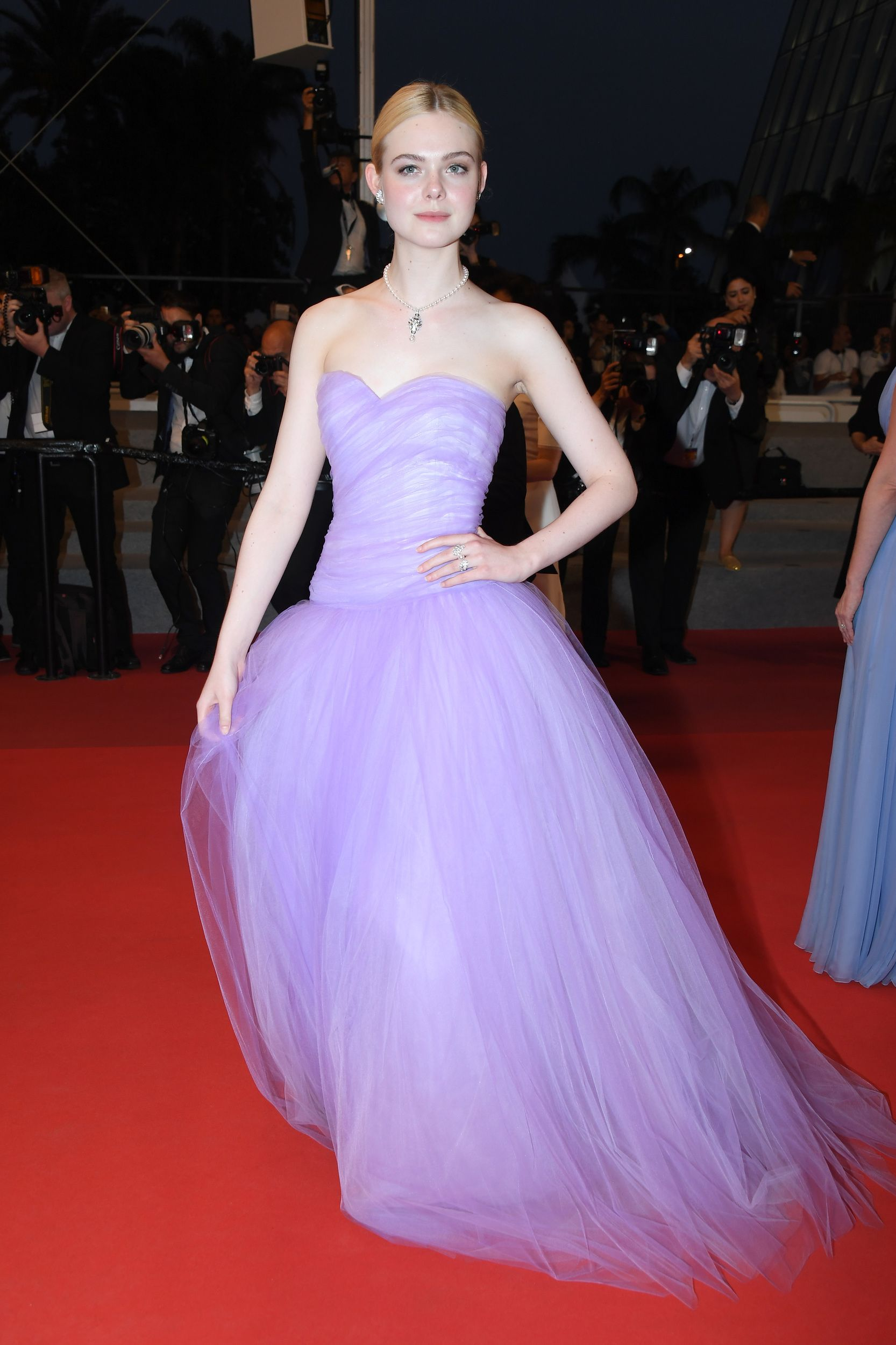 CANNES, FRANCE - MAY 24:  Elle Fanning departs  the 'The Beguiled' screening during the 70th annual Cannes Film Festival at Palais des Festivals on May 24, 2017 in Cannes, France.  (Photo by Dominique Charriau/WireImage) via @AOL_Lifestyle Read more: https://www.aol.com/article/entertainment/2017/05/24/izabel-goulart-appears-naked-at-2017-cannes-film-festival/22108063/?a_dgi=aolshare_pinterest#fullscreen