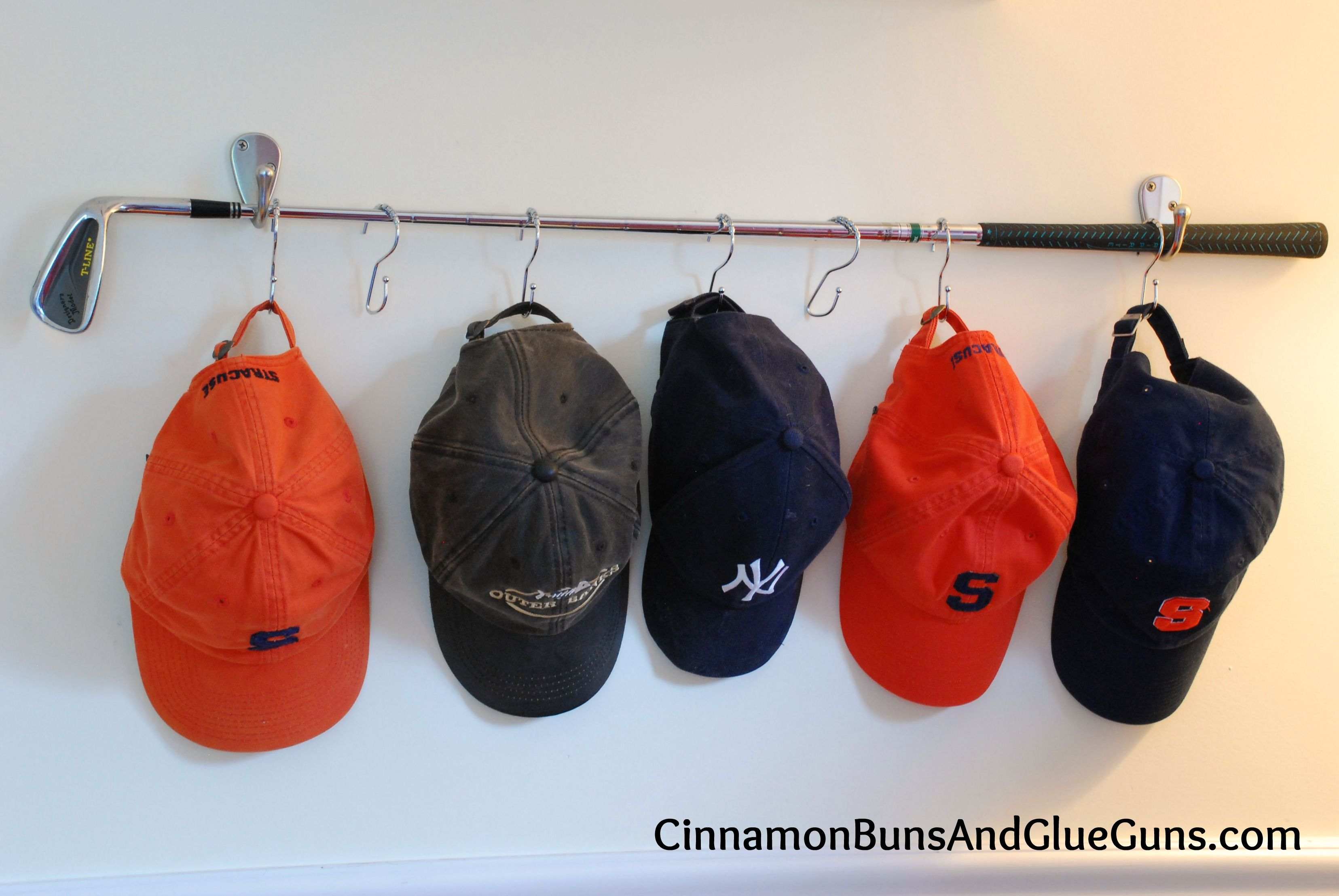 Turn A Golf Club Into A Hat Rack I Think That We Will