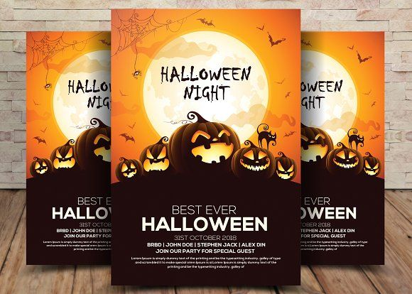 halloween flyer by business templates on creativemarket templates