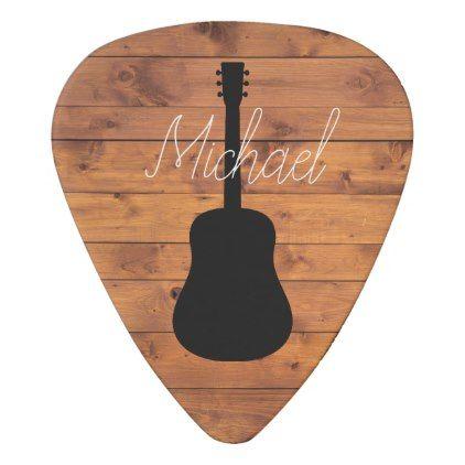 Acoustic Guitar Rustic Wood Calligraphy Name Guitar Pick Zazzle Com Calligraphy Name Wood Guitar Pick Rustic Wood