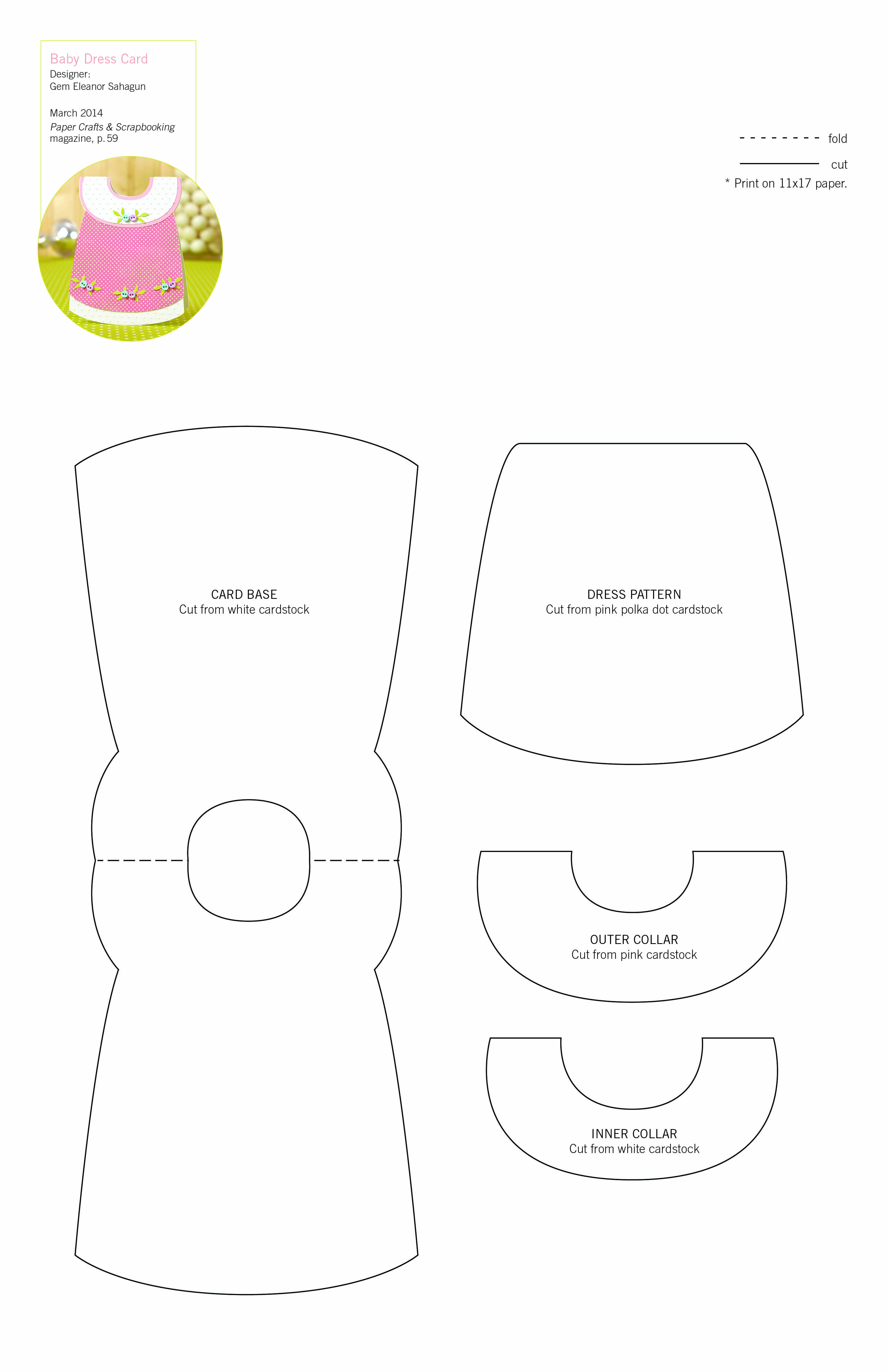 Http Www Papercraftsmag Com Content Downloads G18 Jpg Baby Cards Baby Girl Cards Shaped Cards