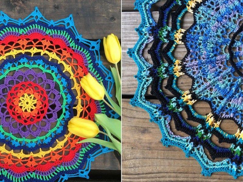 How to Crochet Pretty Mandalas