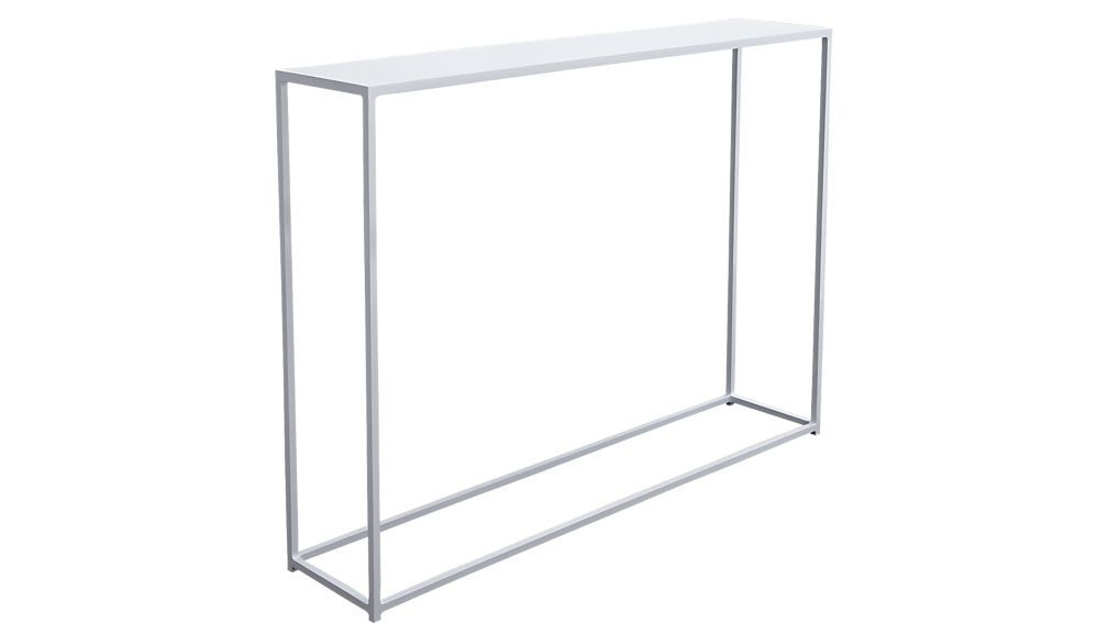 White Glass Console Tables