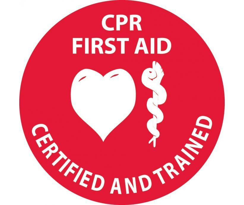 Cpr First Aid Certified And Trained With Graphic 2 Circle