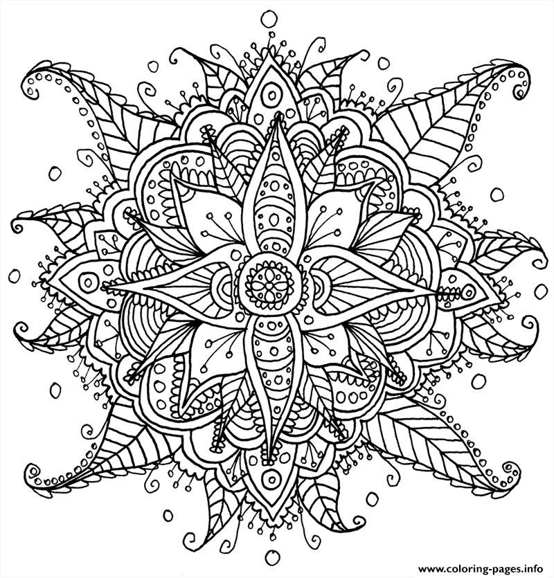 Print Zen Antistress Free Adult 24 Coloring Pages