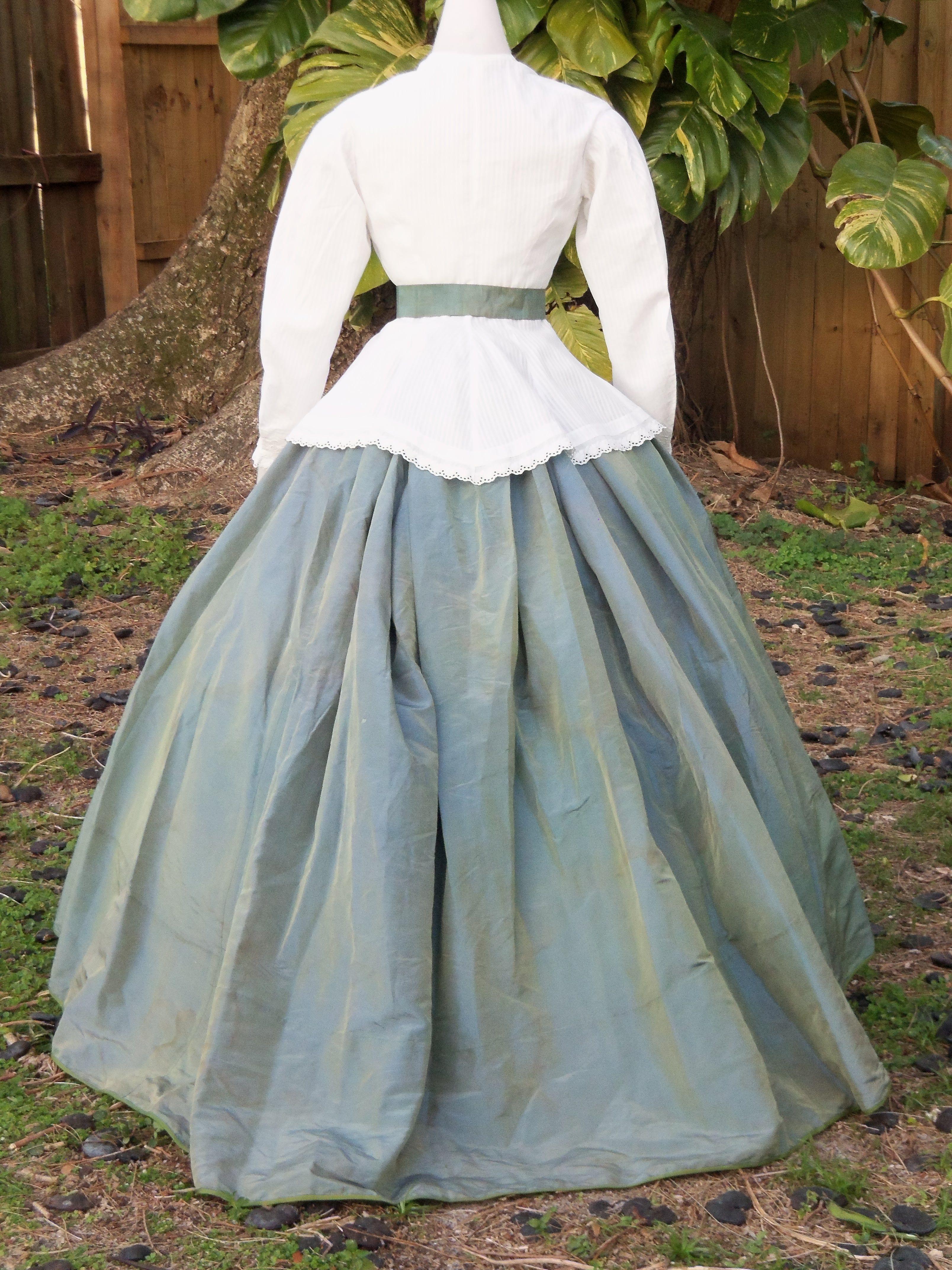 Back Of Casual Ensemble C 1866 Victorian Fashion 1800s Fashion Edwardian Clothing [ 4288 x 3216 Pixel ]