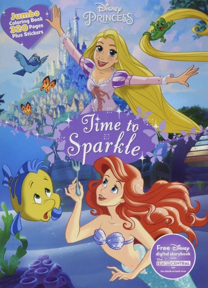 NEW Disney Princess A Time To Shine Jumbo Coloring Book For Kids Art Design Painting