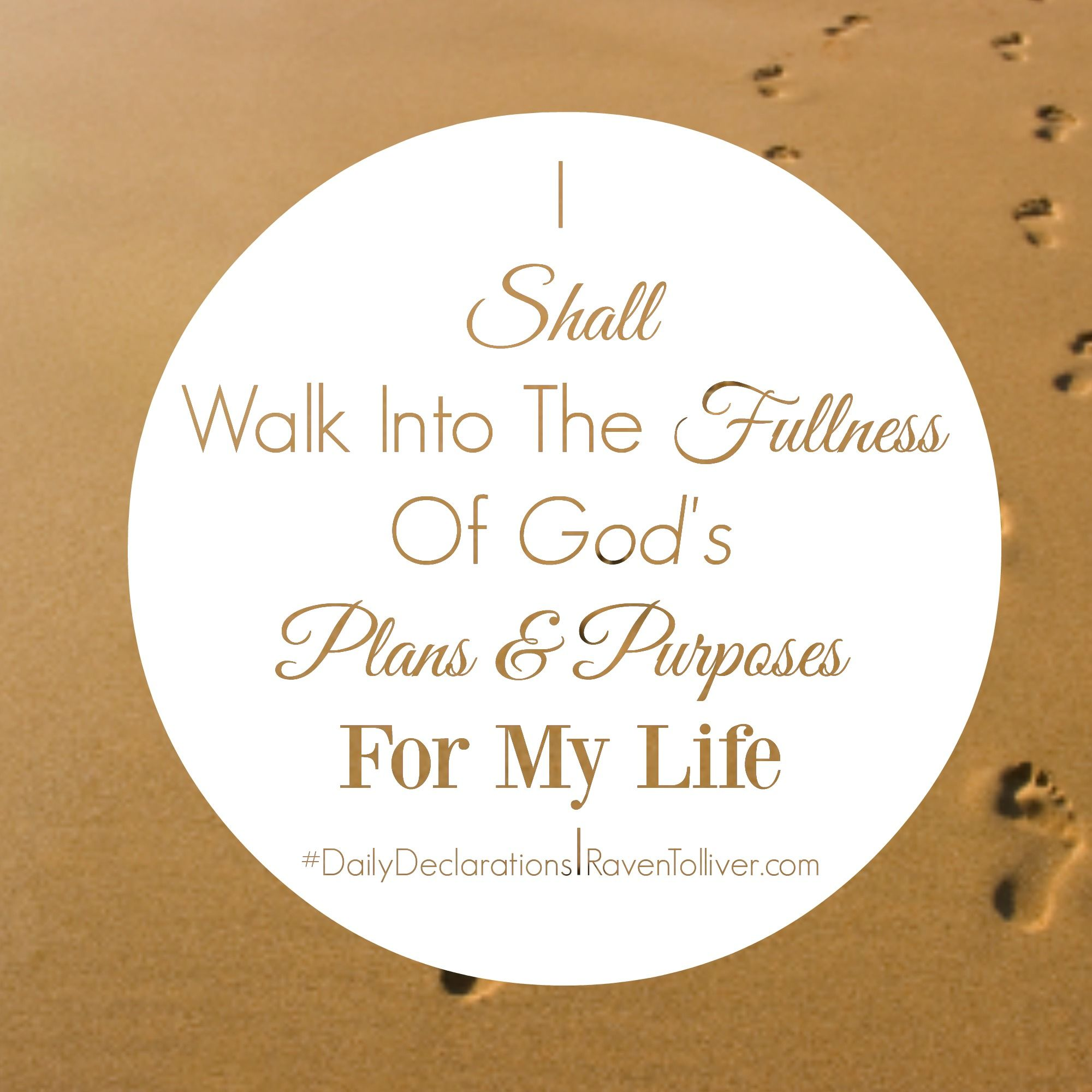 DailyDeclarations I Shall Walk Into The Fullness Of God's